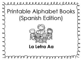 photo relating to Alphabet Book Printable named Spanish Printable alphabet guide (La letra Aa)