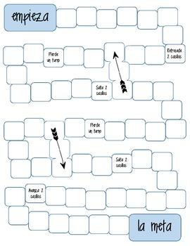 Spanish Printable blank Board Game