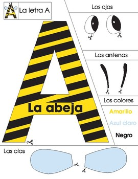 Spanish Printable letter animal craft