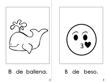 Spanish Printable letter book (La Letra Bb)