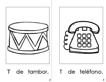 Spanish Printable letter book (La Letra Tt)