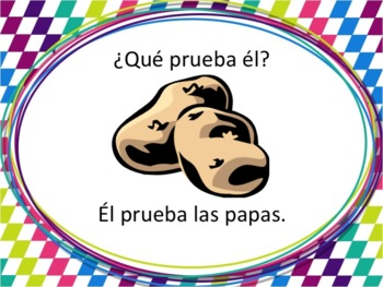 Spanish Probar Powerpoint with Food Vocabulary