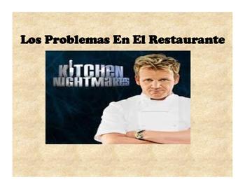 Spanish Problemas en el Restaurante-presentation and activities