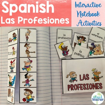 Spanish Professions Interactive Notebook Activity or Game