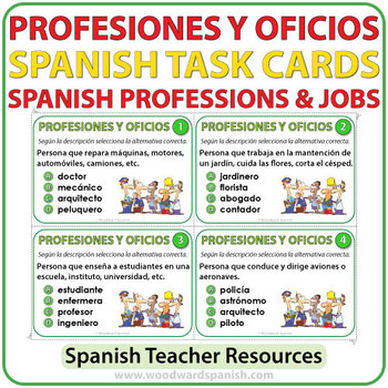 Spanish Professions & Jobs - Task Cards