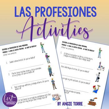 Spanish Professions Las profesiones Activities