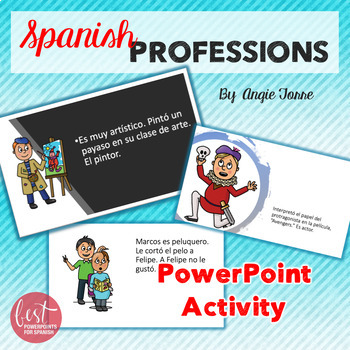 Spanish Professions Las profesiones Paired Activity Competition