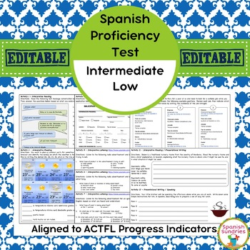 Spanish Proficiency or Placement Test:  Intermediate-Low