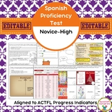 Spanish Proficiency or Placement Test:  Novice-High