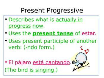 Spanish: Progressive Tenses PowerPoint
