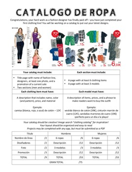 Spanish - Project - Clothing Catalog