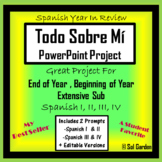 All About Me Spanish Project - Todo Sobre Mi PPT Presentation - 2 Versions