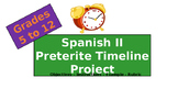 Spanish Project and Presentation: Preterite Timeline