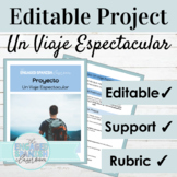 Editable Spanish Project Present Subjunctive Tense | Trave