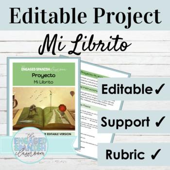Spanish 1 Children's Book Project: -AR verbs, IR, JUGAR, Weather, + Clothing