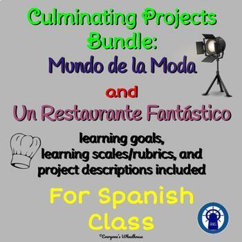 SPANISH Projects Bundle: Culminating Projects for La Ropa and El Restaurante
