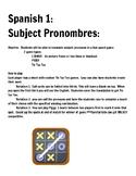 Spanish Pronoun Activty