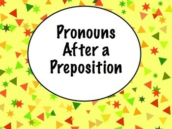 Spanish Pronouns After Prepositions BUNDLE- PowerPoint, Worksheets, Keynote
