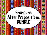 Spanish Pronouns After Prepositions BUNDLE- PowerPoint, Wo