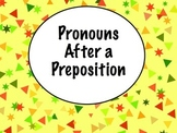 Spanish Pronouns After Prepositions PowerPoint Slideshow Presentation