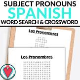 Spanish Subject Pronouns - Spanish Word Search & Crossword Puzzle