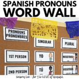 Spanish Pronouns Word Wall Los Pronombres