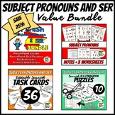 Spanish Subject Pronouns and Ser Value Bundle
