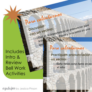 Spanish Pronunciation Difficulties PowerPoint & Lesson Plan Bundle!!