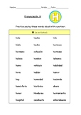 Spanish Pronunciation: Letter H - Rules, Practice Sheets &