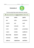 Spanish Pronunciation: Letter S - Rules, Practice Sheets &