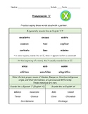 Spanish Pronunciation: Letter X - Rules & Practice Sheets