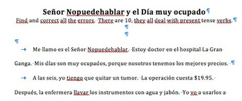 Spanish Proofreading Practice Super Pack