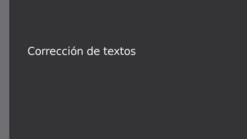 Spanish Proofreading Sentences