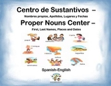 Spanish Proper Nouns / Sustantivos in a Station / Center Activity