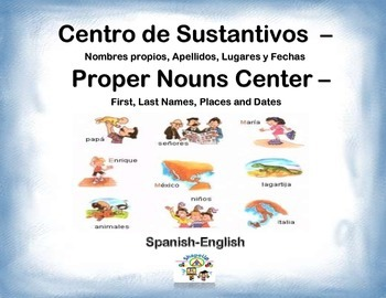 Spanish Proper Nouns / Sustantivos in a Station / Center Activity