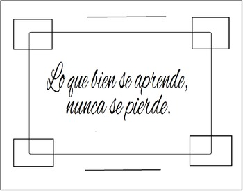 Spanish Proverb Poster