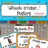 """Spanish """"¿Puedo ir/usar..."""" Posters"""