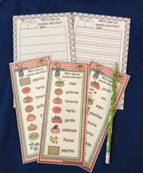 Spanish Pumpkin I Can Write Cards