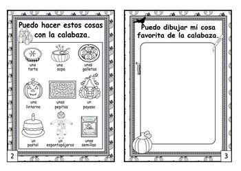 Spanish Pumpkin Mini Book
