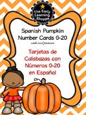 Spanish Pumpkin Number Cards 0-20