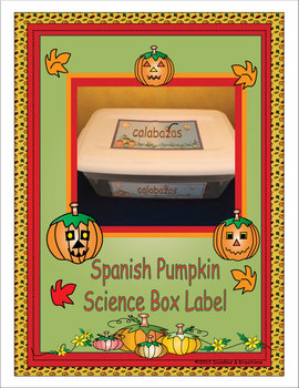 Spanish Pumpkin Science Box Labels