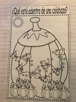 Spanish Pumpkin Science Journal or Worksheet Pages