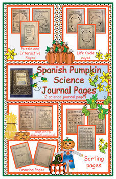 Spanish Pumpkin Science Journal or Worksheet Pages