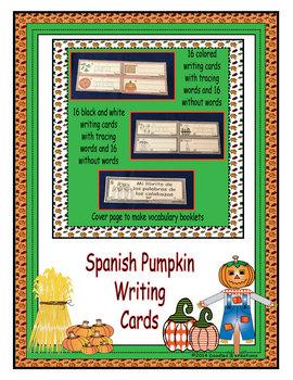 Spanish Pumpkin Writing Cards