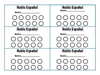 Spanish Punch Card