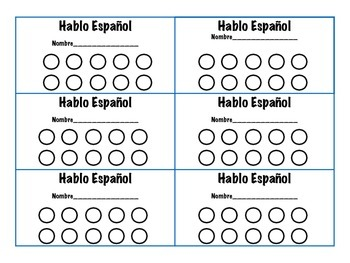 Spanish Punch Card
