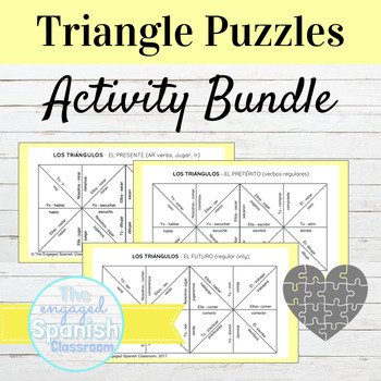 Spanish Puzzle Bundle: Present, Preterite, Imperfect, Future, Subjunctive + MORE