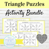 Spanish Puzzle Bundle with Editable Template