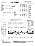 Spanish Puzzle Sheet, Substitute plans, Los Verbos!