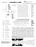 Spanish Puzzle Sheet, Substitute plans, cocina y baño